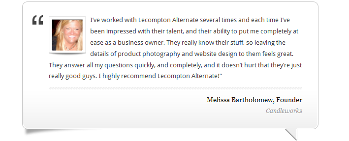 Lecompton Alternate Testimonial from Melissa Bartholomew, Candleworks Founder